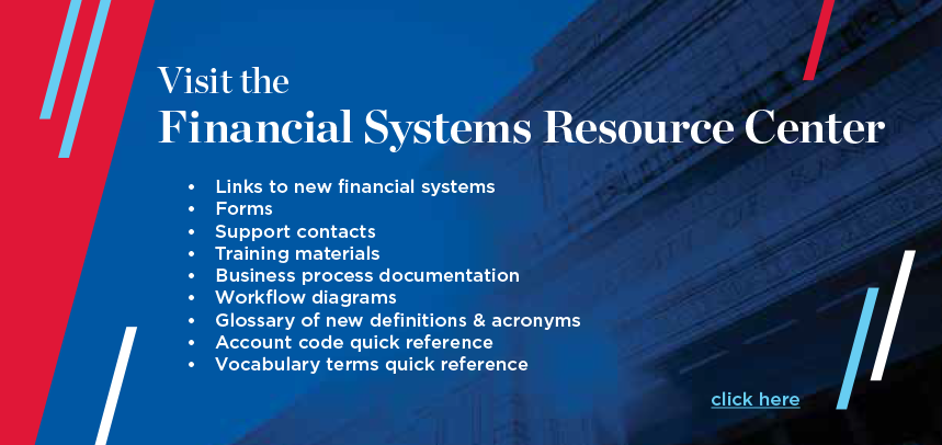 Financial Systems Resource Center Promo Slider